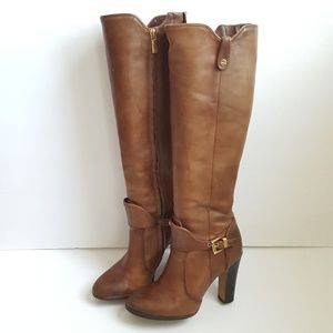 Vince Camuto 6 B Tall Brown Harness Boots